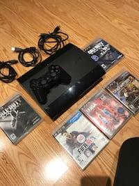 PS3, 3rd Generation with 5 games and 1 control. MINT condition Vaughan, L4H 2J7