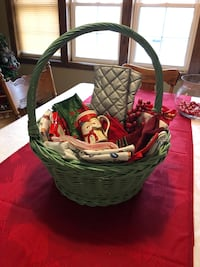 Christmas basket with goodies all ready to be gifted. Free delivery