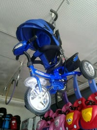 toddler's blue and black bicycle with training wheels Los Angeles, 90001