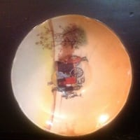 VINTAGE ROYAL DOULTON SCALLOPED SAUCER COACHING DAYS D6393