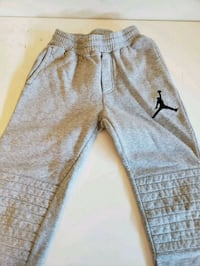 gray and black sweat pants 8 km