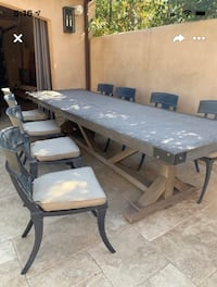 Concrete table with 8 chairs (Restoration Hardware) Santa Monica, 90402