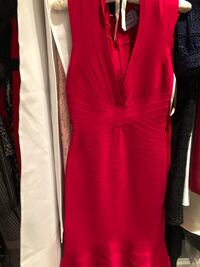 Fuchsia Herve leger dress size medium  Mississauga, L5V 1M2