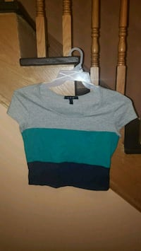 Size Large U2B Tri-colour Crop Top