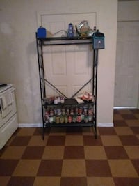 Metal rack can be  used  in kitchen or bedroom