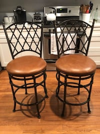 """2 - 24"""" leather swivel bar stools Centreville"""