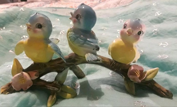 Vintage Lefton/Norcrest 3 Birds on Branch Figurine