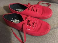 Like New Awesome Red Vans Mooresville