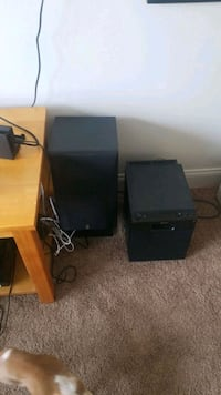 Yamaha 3 way speakers with stands and sony subwoofer Ames, 50010