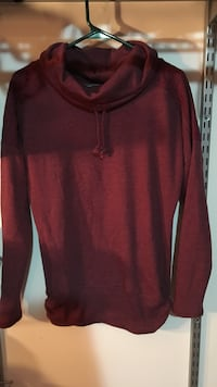 red pull-up hoodie