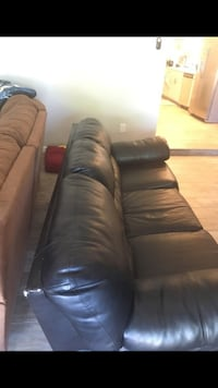 black leather 3-seat sofa Tucson, 85719