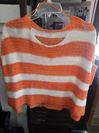 orange and white striped sweater Los Angeles, 90062