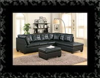 Black sectional with ottoman Laurel, 20707