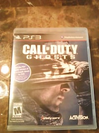 Call of Duty Ghosts PS3 game case Toronto, M3J 1L8