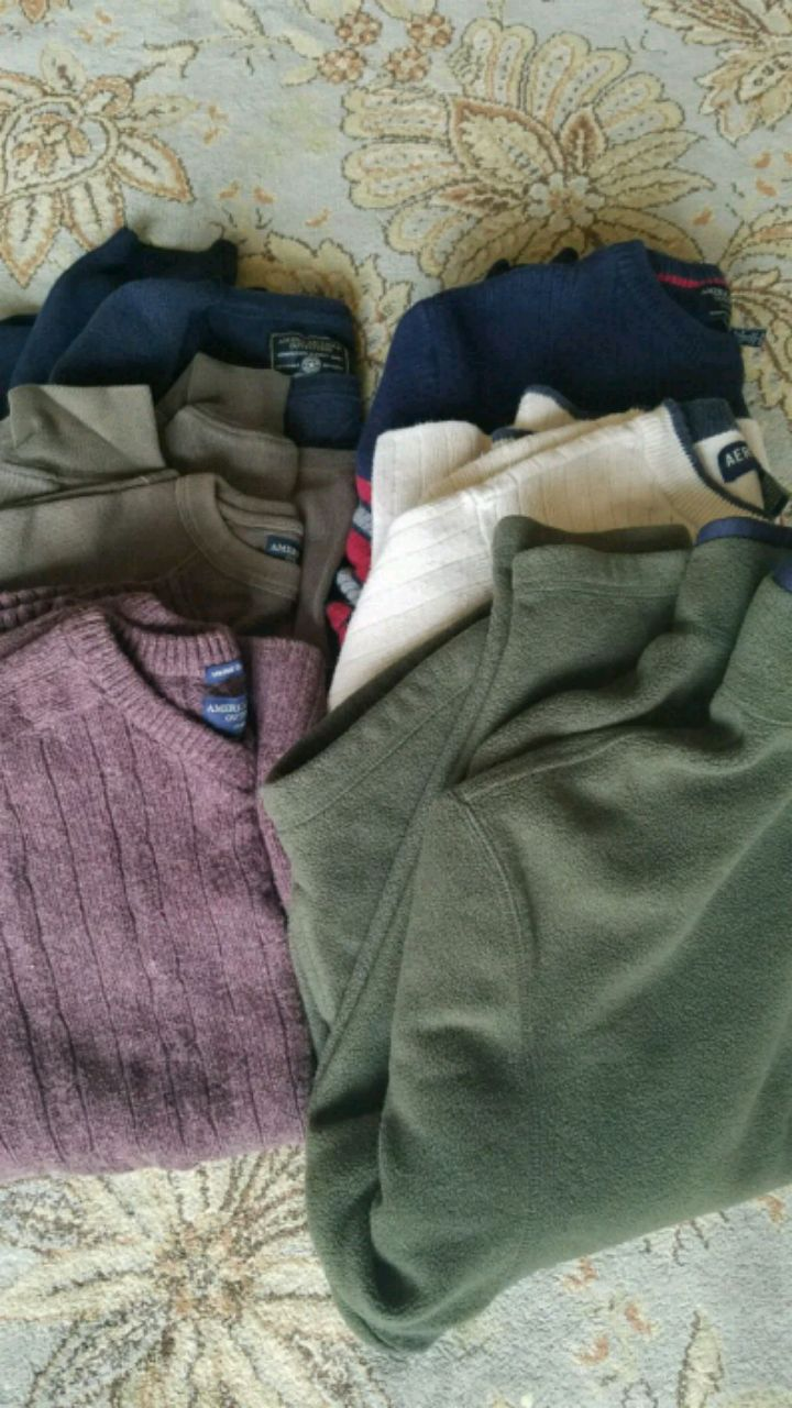 Mens sweaters , mostly American Eagle