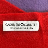 "64"" red cashmere scarf"