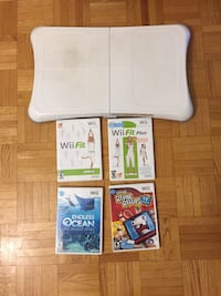 Wii Fit board & 4 games $35 OBO Toronto, M3A