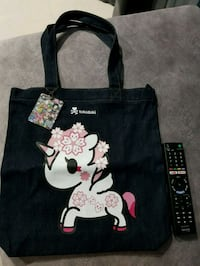 black and white Minnie Mouse print tote bag Singapore, 757704