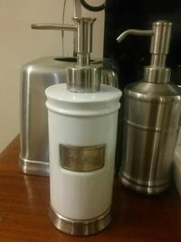 White stainless steel soap container
