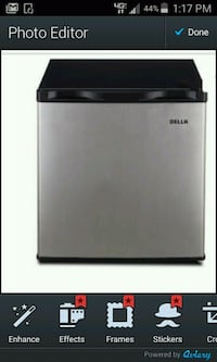 black and gray Haier compact refrigerator Moreno Valley, 92557