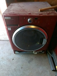 red front-load clothes washer and dryer Odessa, 79762