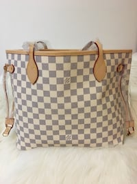 Damier Azur Louis Vuitton leather tote bag Toronto, M6L 2N2