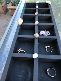 Custom jewellery holder . Lots of bins to organize your fine Jewelley . Jewellery not included . Nanaimo, V9T 2N6