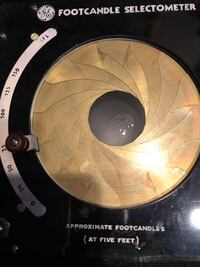General Electric Footcandle Selectometer Very Rare 80.00 obo