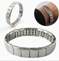 Double Germanium Tatinium Stainless Steel Magnetic Energy Bracelets