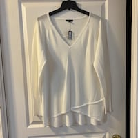 Brand New RW Lightweight White Sweater Sz XL