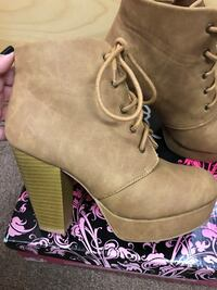 Women's closed ankle boots (tan) New York, 11427