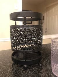 black metal candle holder with candle holder Columbia, 21046