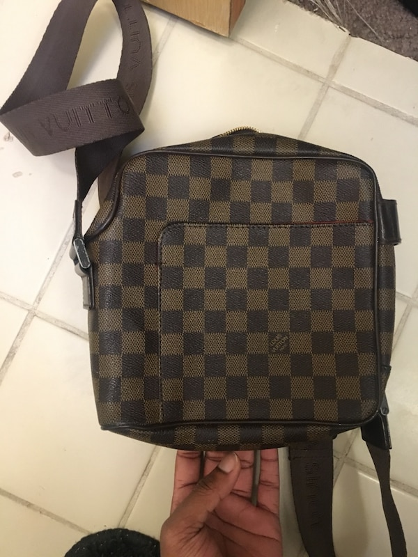 9bf4f936a090 Used Damier ebene louis vuitton leather crossbody bag for sale in  Bloomfield - letgo