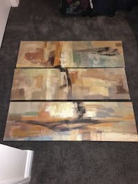 painted canvas picture set of three London, N6L 0C8