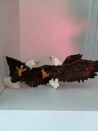 two bald eagle figurines