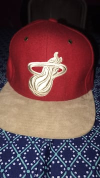 Red and tan suede Miami Heat SnapBack cap Denver, 80207