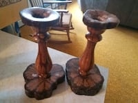 2 -wooden candle holders  Spring Grove, 17362