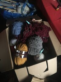 Large boxes of yarn