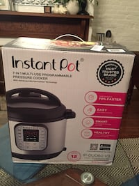 Instant Pot IP-DUO60 7-in-1 Programmable Pressure Cooker with Stainless Steel Cooking Pot and Exterior, 6-Quart/1000-watt, Latest 3rd Generation Technology Washington, 20003