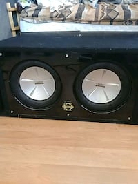 black and gray JL Audio subwoofer Victoria, V9A 3K9