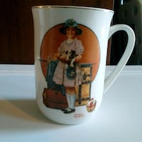 Norman Rockwell coffee Cup
