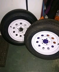 Trailer rims and tires like new