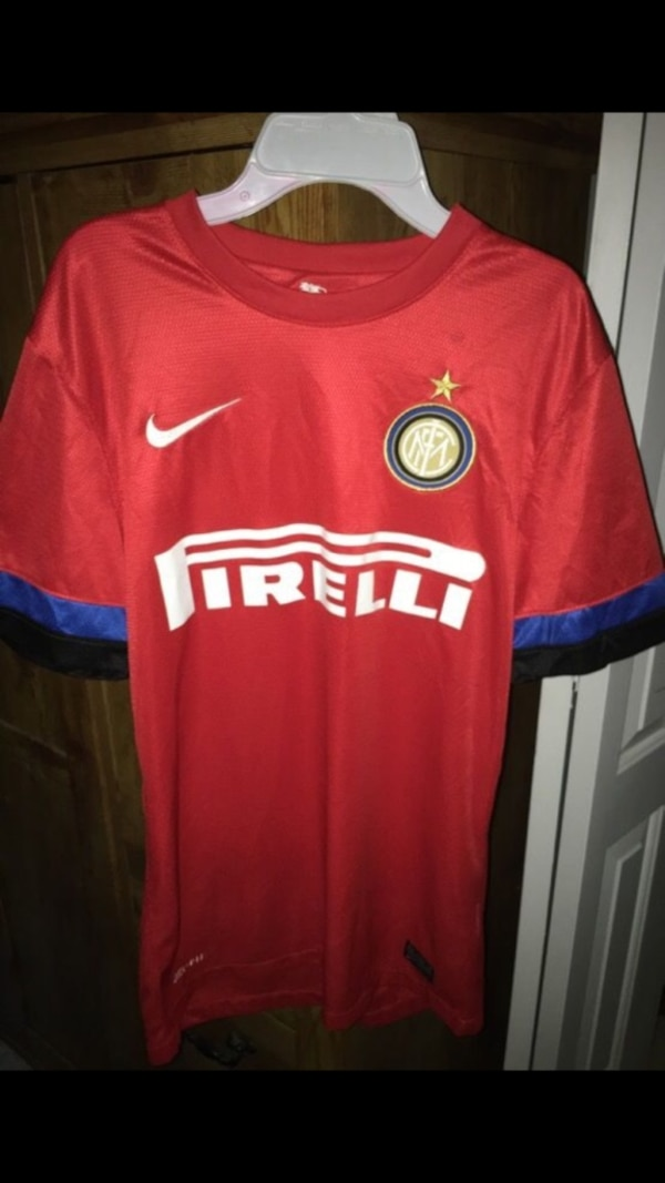 01327744671 Used Men's red Pirelli soccer jersey for sale in West Palm Beach - letgo