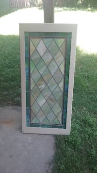 Framed Antique Stained Glass SANANTONIO
