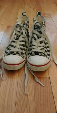 pair of white-and-brown high top sneakers Winnipeg