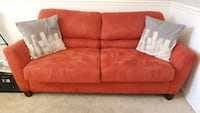 Rustic Orange Fabric 2-seat sofabed Bowie, 20721