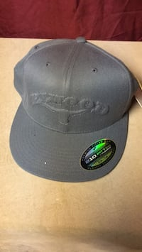 black and gray fitted cap 214 mi