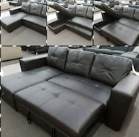 Brand New Espresso Bonded Leather Sleeper Sofa Silver Spring