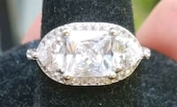 5 ctw sterling silver engagement ring Baltimore, 21224