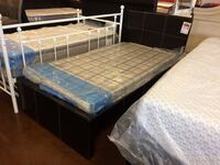 Twin Espresso Upholstered Bed Frame Only  Phoenix, 85018